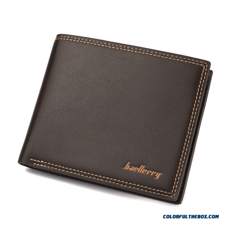 Fashion Quality Bags Business Wallets Men Short Horizontal Wallets Soft Leather