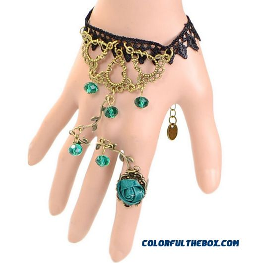 Fashion Sexy Lace Re-gu Gete Mysterious Lace Bracelet Ring Special Jewelry For Woemn