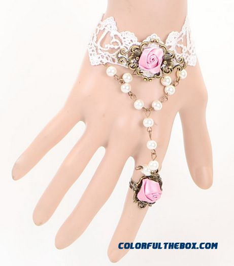 Fashion Sexy Lace Re-gu Gete Mysterious Lace Bracelet Ring Special Jewelry For Woemn - more images 2