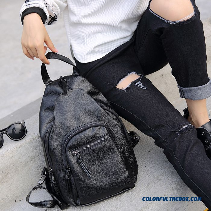 68b80a38043c Fashion Soft Leather Ladies Shoulder Bags Washed Leather High Capacity  Multifunction Dual Purpose Woman Backpack