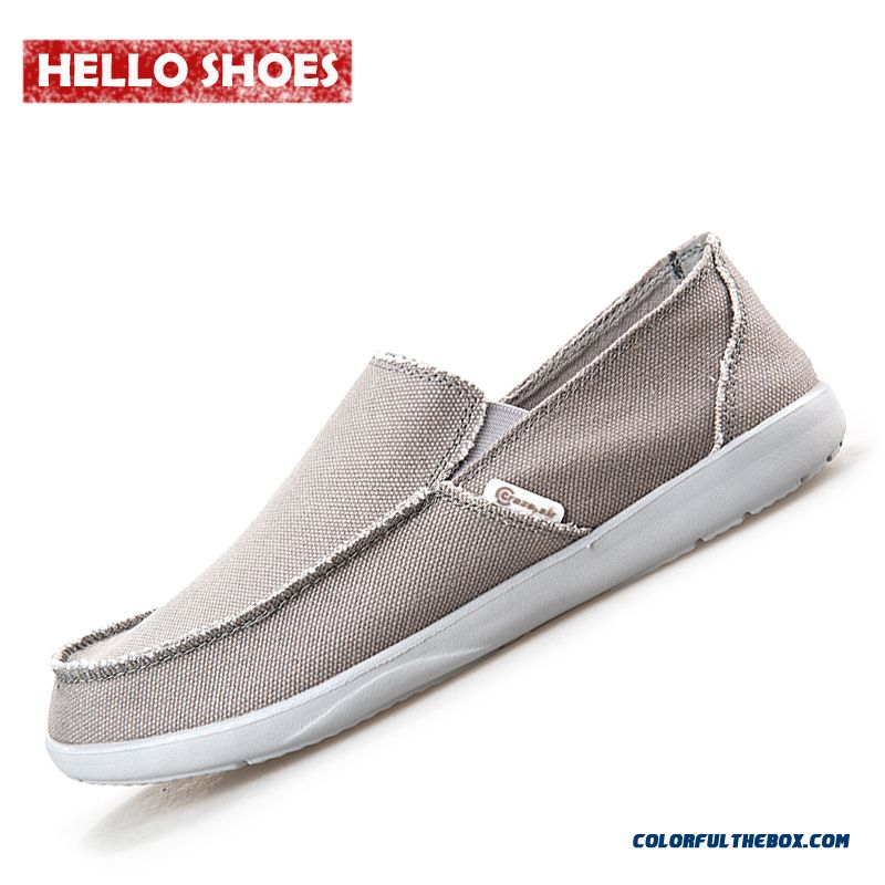 Fashion Summer Men Canvas Shoes Casual Shoes Men Shoes Loafers Comfortable Ultralight Lazy Shoes Flats Breathable