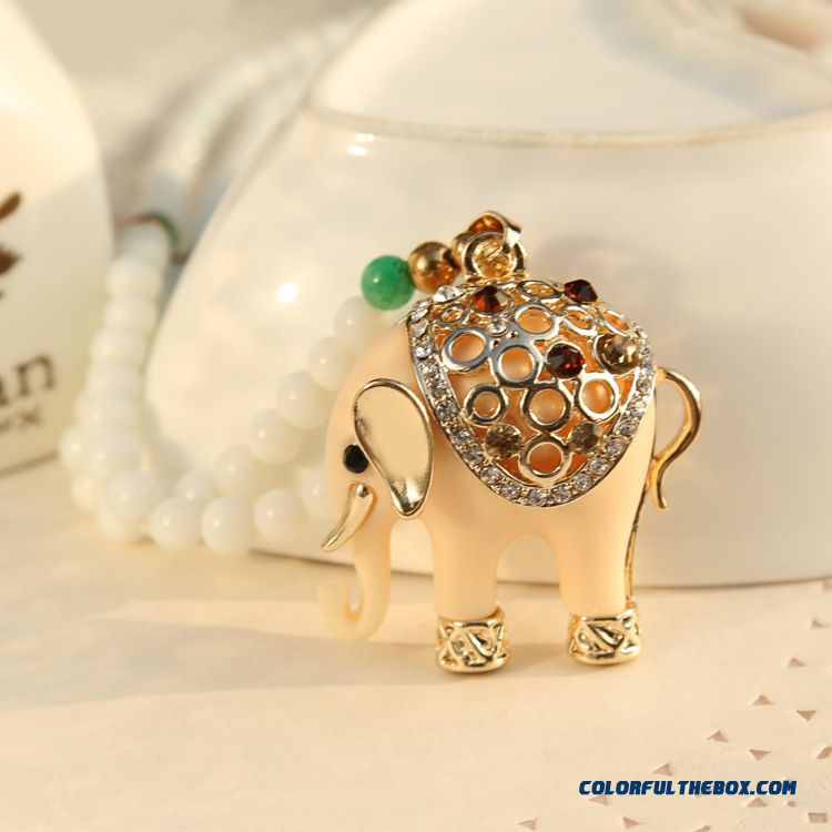Fashion Sweater Chain Long All-match Elephants Thailand Vintage Crystal Pendant Necklace Women