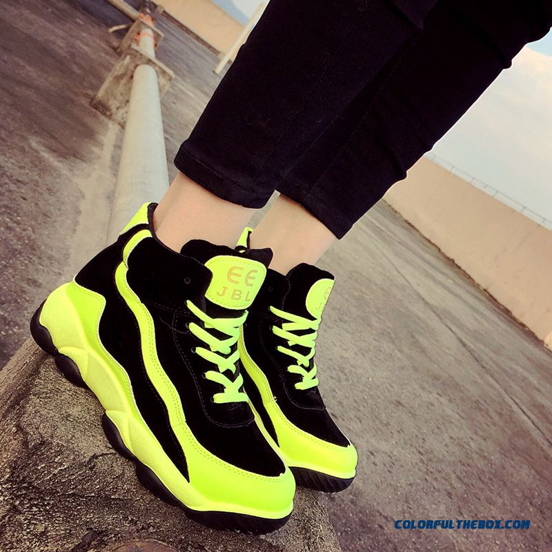 Fashion Thick Bottom Women Running Casual Shoes Free Shipping - more images 3