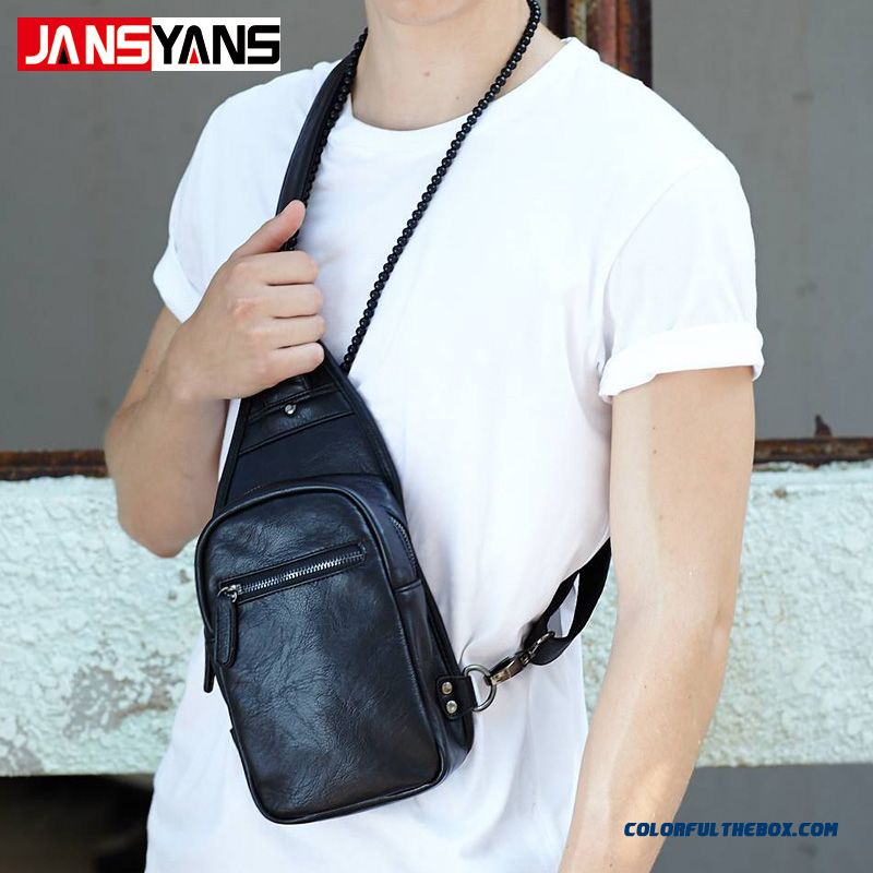 Fashion Trend Of Casual Men's Crossbody Bags Outdoor Sports Bags Free Shipping Black
