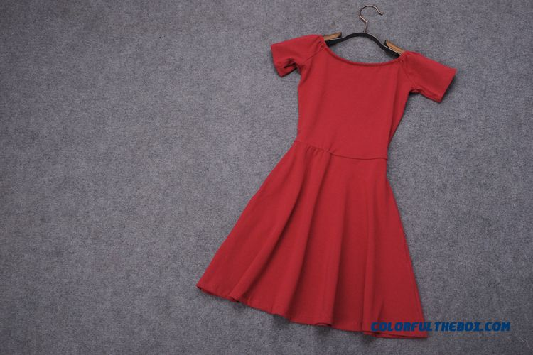Fashionable Design Boat Neckline Strapless Women Dress Short - more images 3