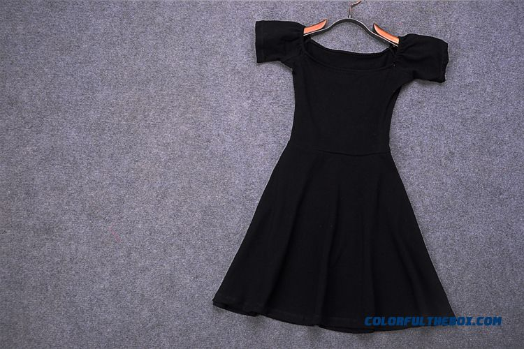 Fashionable Design Boat Neckline Strapless Women Dress Short - more images 4