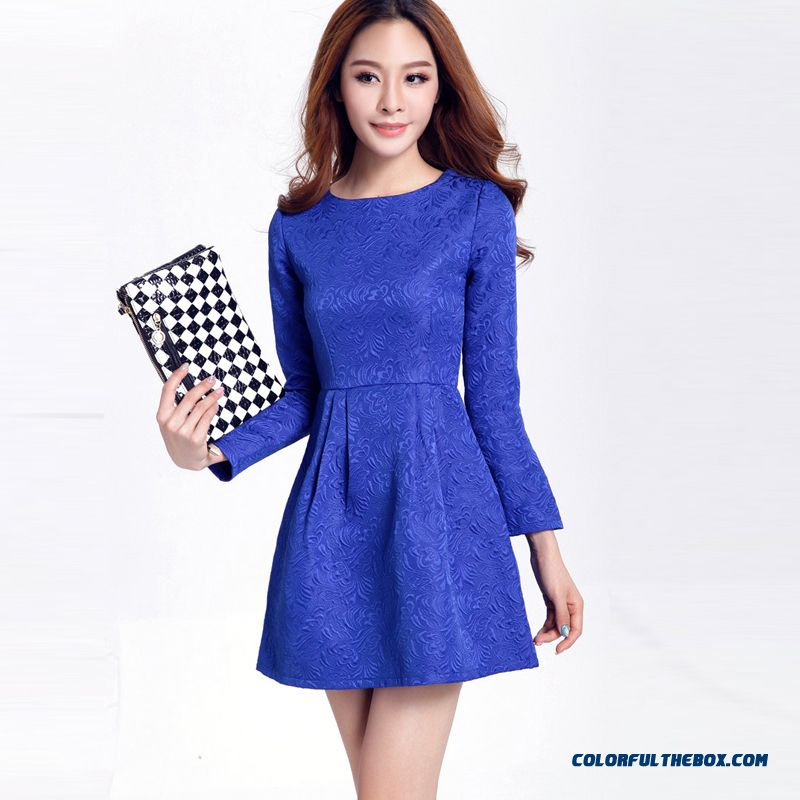 Fashionable Design Long Sleeved Women Dress Elegant Promotion