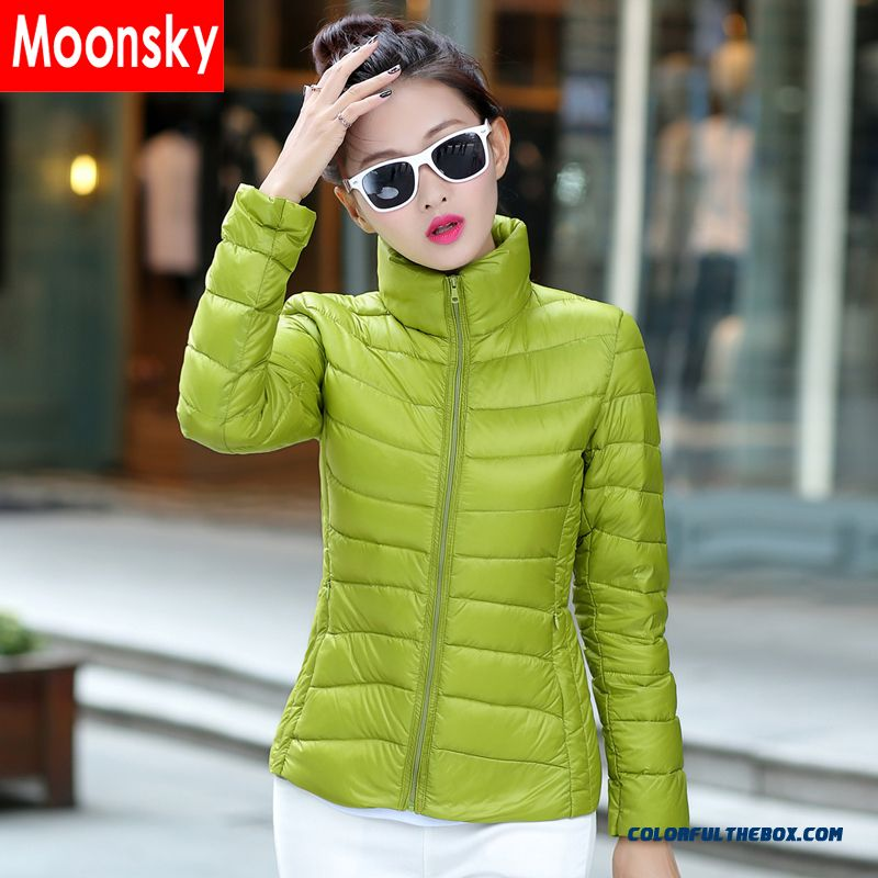 Fashionable Design Winter New Women's Down Jacke Short Green Slim Promotion Tide