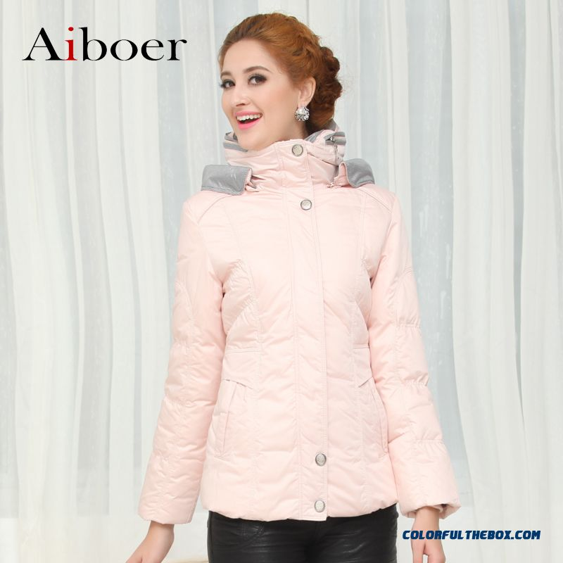 Fashionable Design Winter New Womens Down Jacke Thicken Plus Size Pink Long