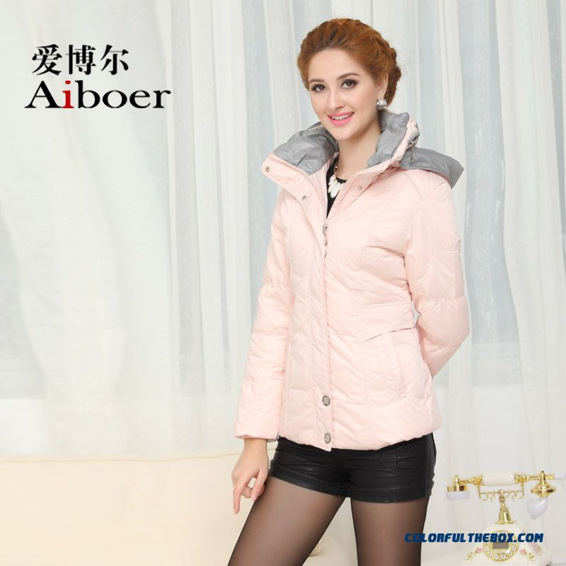 Fashionable Design Winter New Women's Down Jacke Thicken Plus Size Pink Long - more images 2