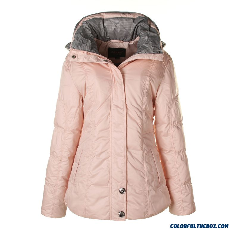 Fashionable Design Winter New Women's Down Jacke Thicken Plus Size Pink Long - more images 3