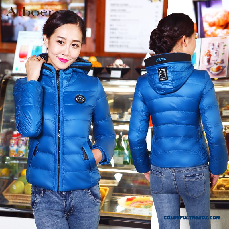 Fashionable Design Winter New Women's Hooded Coats Casual Short Slim Red Bright - more images 2