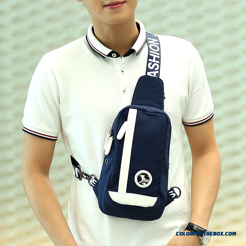 Fashionable Tide Couple Crossbody Bags Men's Canvas Chest Bag