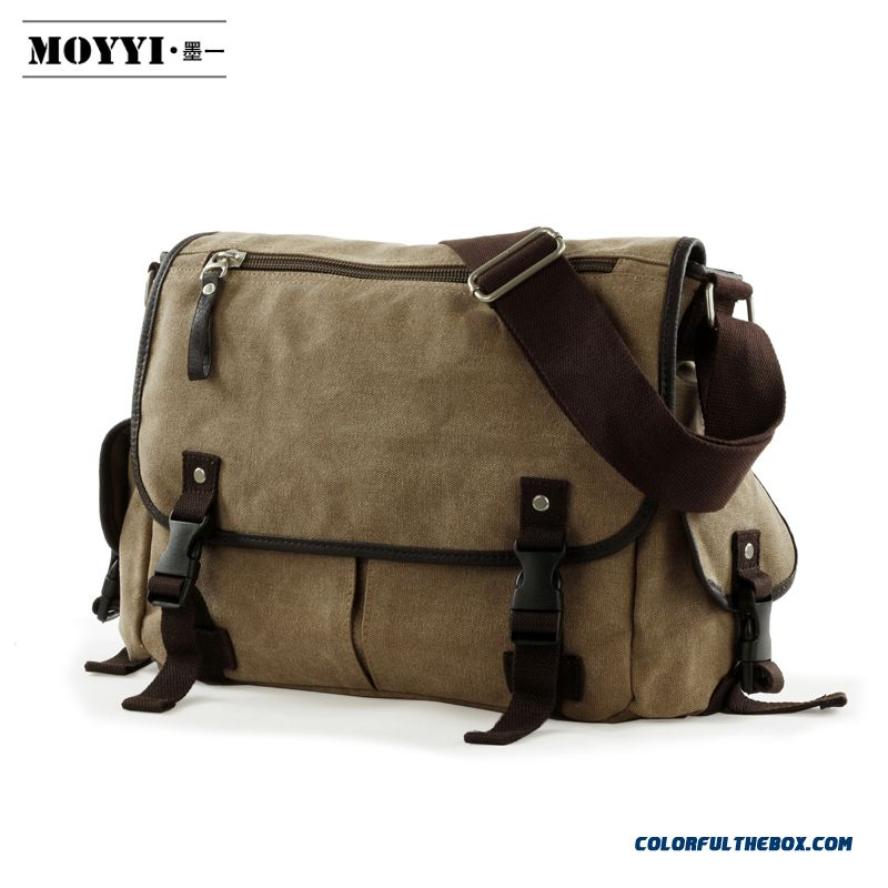 Fashionable Trend Of Retro Canvas Bag Man Crossbody Bags Messenger Bags Casual Schoolbags