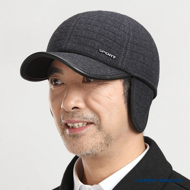 Father's Winter Peaked Cap With Protect Ear Function Free Shipping Men's Accessories