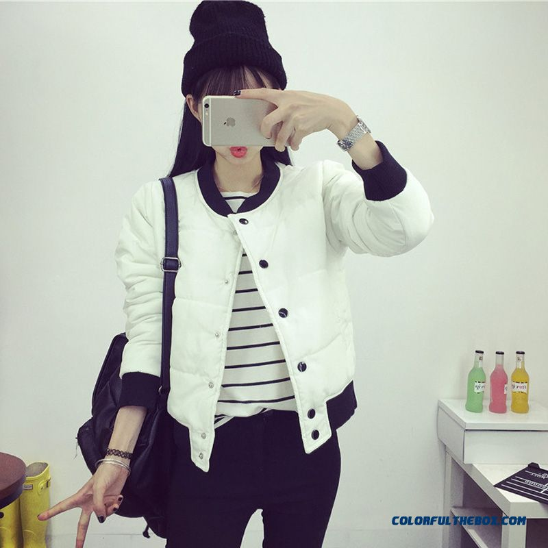 Female Coat New Winter Short Thicken Bleu Casual And Comfortable Clothes