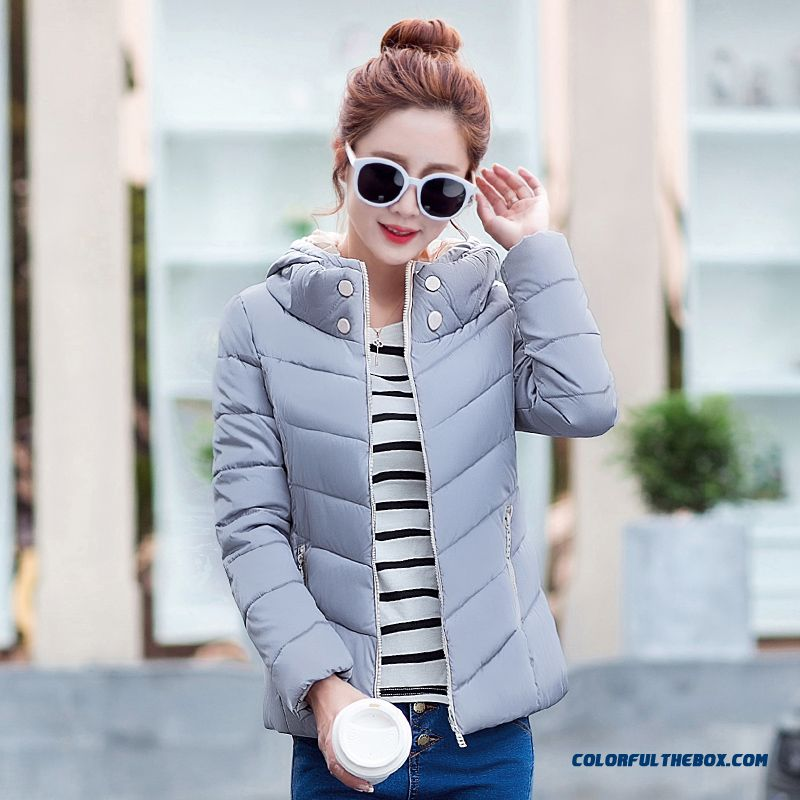 Female Coats Winter New Hooded Cotton-padded Clothes Jacket Women Short Slim