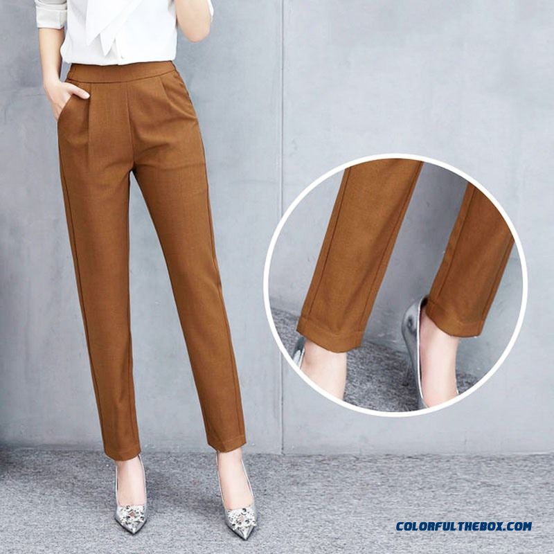 Female Fashion Harem Pants Summer Autumn Elastic Waist Casual Casual Slim Pants Women Pants Work Wear Trousers Harem Pants