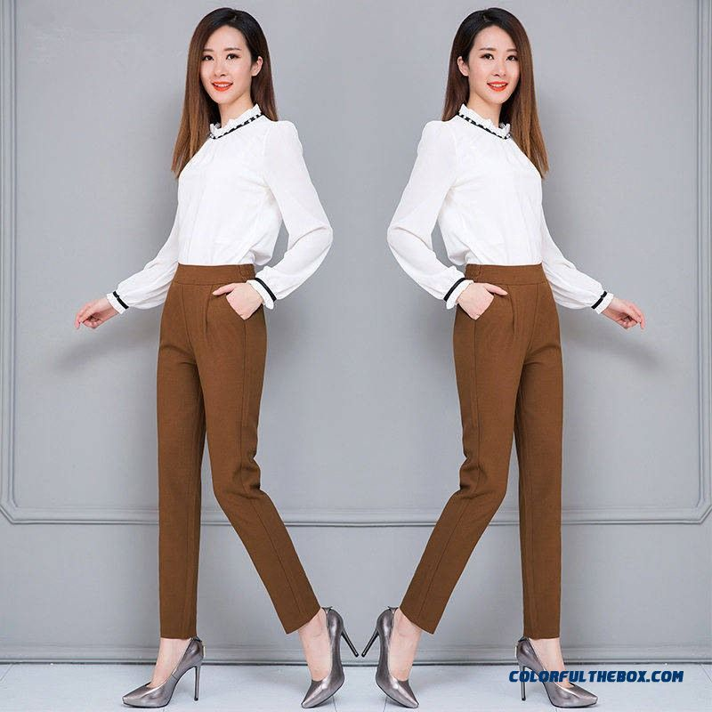 Female Fashion Harem Pants Summer Autumn Elastic Waist Casual Casual Slim Pants Women Pants Work Wear Trousers Harem Pants - more images 1