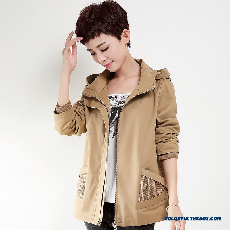 Female Hooded Coats Winter New Cardigan Short Large Windcheater Mode