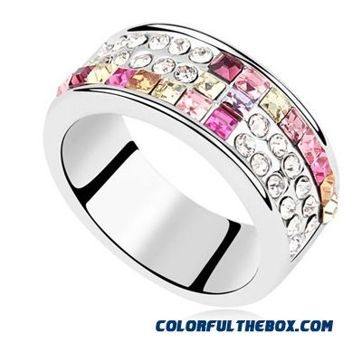 Fine Jewelry Austrian Crystal Ring - Love In Venice European And American Style Women's Ring