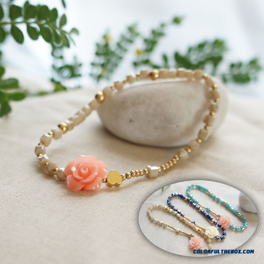 Fine Woman Rose Crystal Bracelets Jewelry Accessories