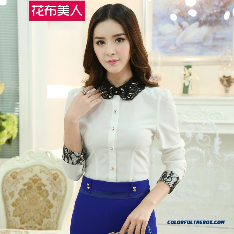 Finest Quality Comfortable Slom Long Sleeve Chiffon Women Shirt
