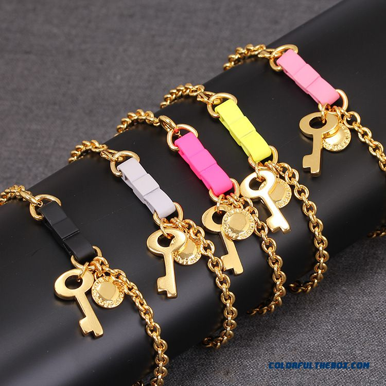 Five Colors Bowknot Key Bracelet Free Shipping Women Favorite Fine Jewelry