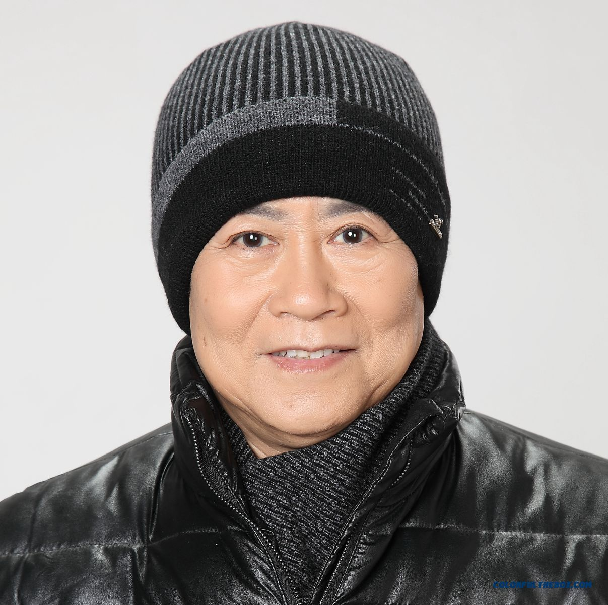 Free Shipping Elderly Wool Woolen Knitted Hat Proteced Ear Cap Design For Old Man