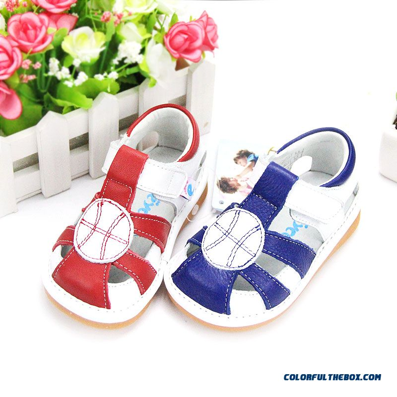 Free Shipping Factory Direct Sales Summmer Kids Shoes Genuine Leather Sandals 1-2-3 Years Old Girls Red Blue