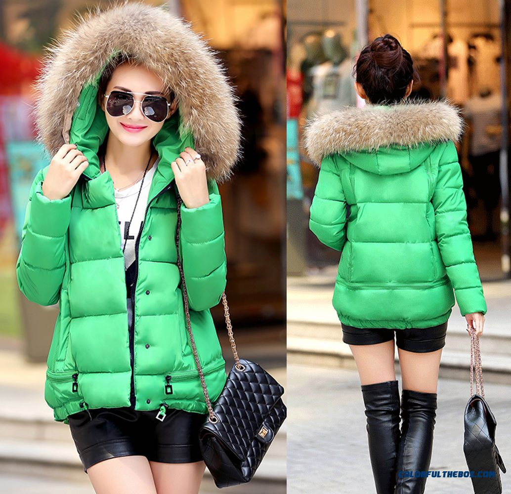 Free Shipping Fashion Female Coats Shoet Whitte Green Yellow Winter New
