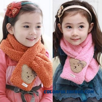 Free Shipping For 2-10 Years Old Grils Kids Warm Neck Scarves Cute Fashion