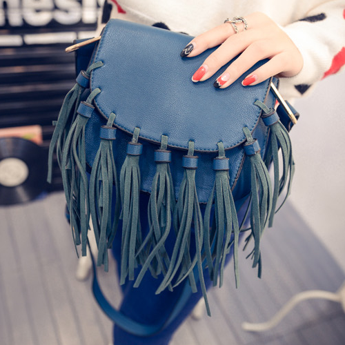 Free Shipping Korean Style Mini Women Fringed Crossbody Bag Rsimplicity Women Bags