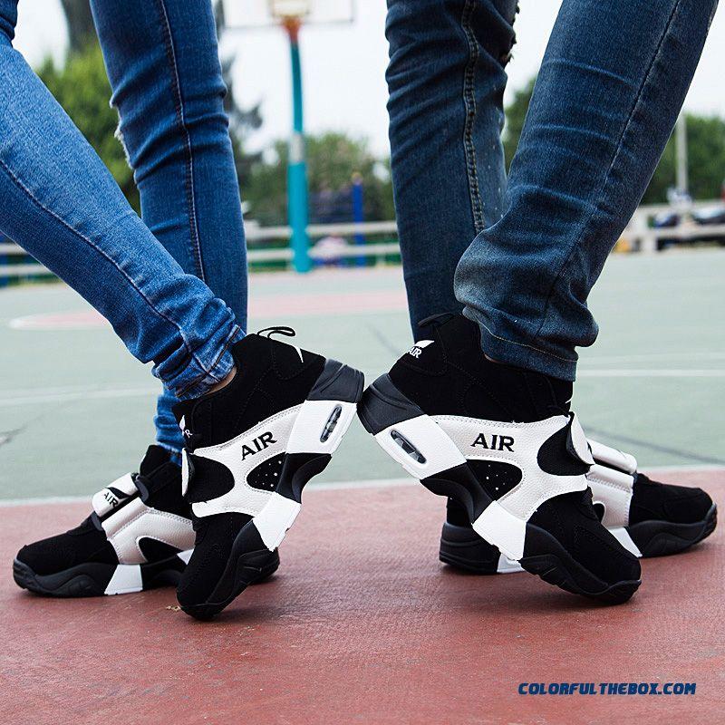 Free Shipping Korean Version Of The Thick Bottom Couple Shoes Men Basketball Shoes - more images 2