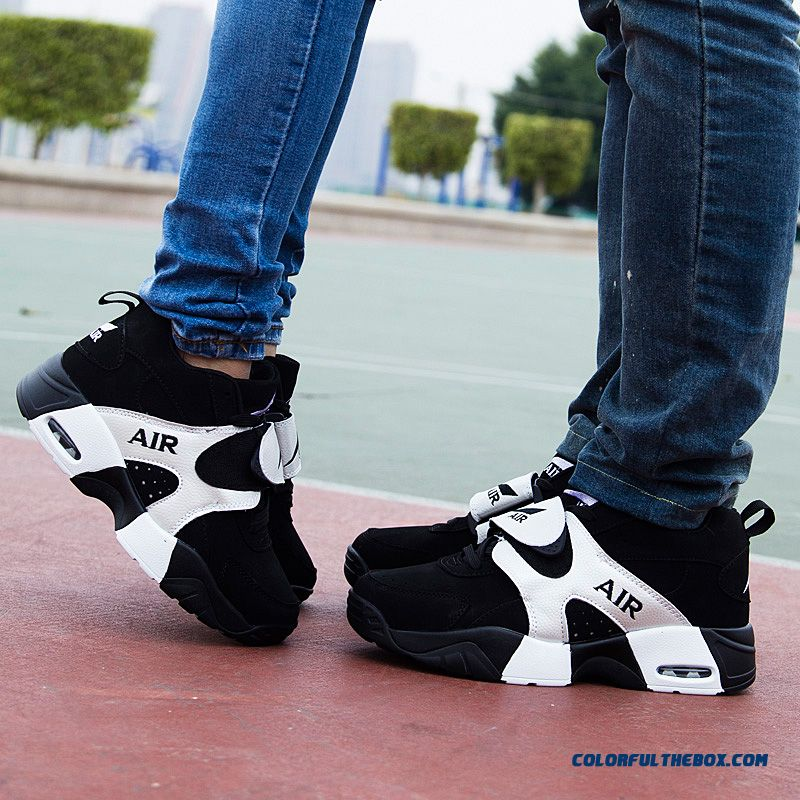 Free Shipping Korean Version Of The Thick Bottom Couple Shoes Men Basketball Shoes - more images 4