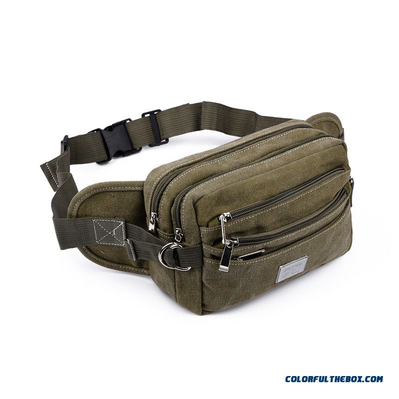 Free Shipping! Men And Women Denim Multilayer Sport Waist Packs Outdoor Tourism Bags