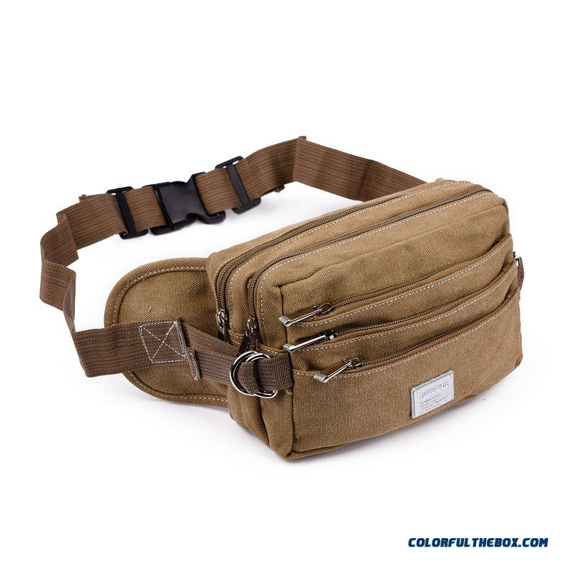 Free Shipping Men Denim Waist Packs Multilayer Waist Packs Travel Outdoors Personal Men's Bags