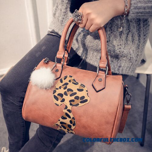Free Shipping New European Boston Mode Leopard Print Puppy Pattern Women Bags Shoulder Bags