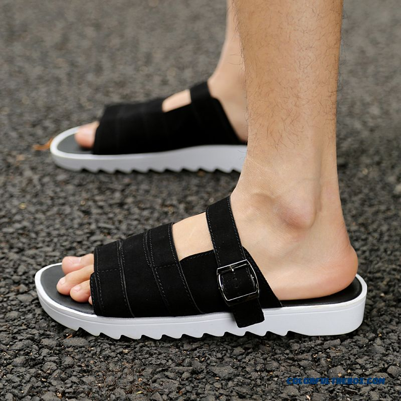 Free Shipping New Summer Men's Slippers Korean Version Nubuck Shoes