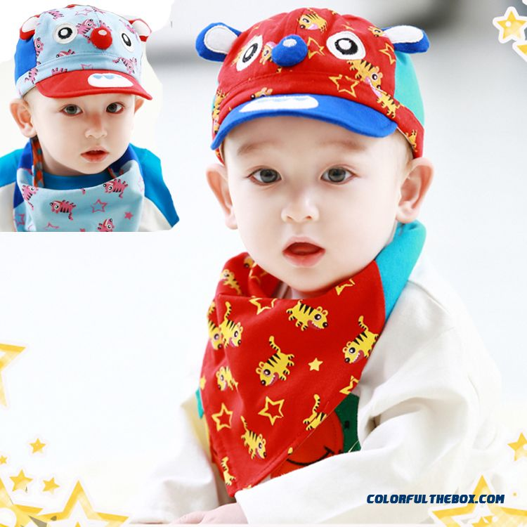 Free Shipping New Tiger Spring Baby Girls And Boys Baby Cotton Triangular Kids Hats For 2-20 Month Boys
