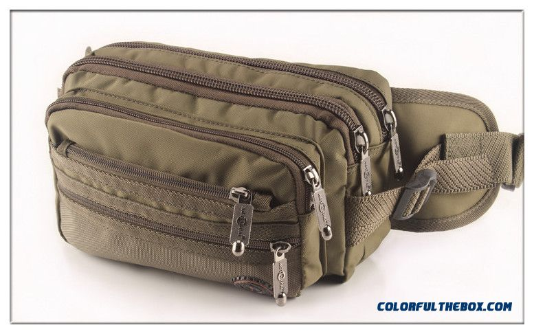 Free Shipping Promotion! Men And Women Casual Solid Color Waist Packs Multilayer Waist Packs Bags