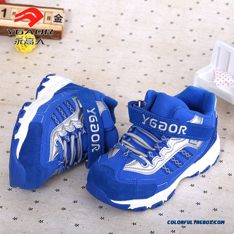 Free Shipping Simple And Stylish Comfortable And Breathable Boys Velcro Basketball Shoes