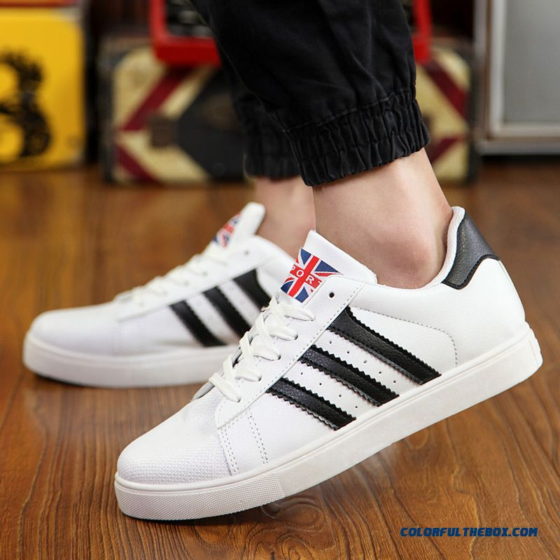 Free Shipping Skateboarding Shoes Men Low Cut Men Shell Head Shoes Flats Shoes - more images 2