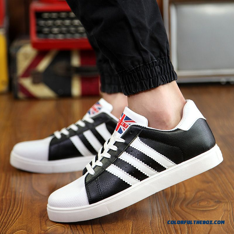 Free Shipping Skateboarding Shoes Men Low Cut Men Shell Head Shoes Flats Shoes - more images 3
