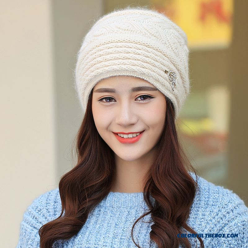 Free Shipping Women Accessories Double Ear Protection Warm Hat For The Elderly - more images 4