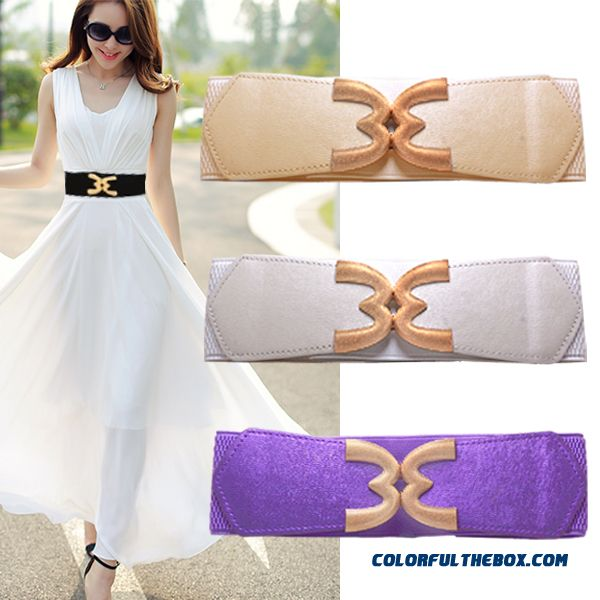 Free Shipping Women Accessories White Skirt With Elastic Cummerbuns & Belts