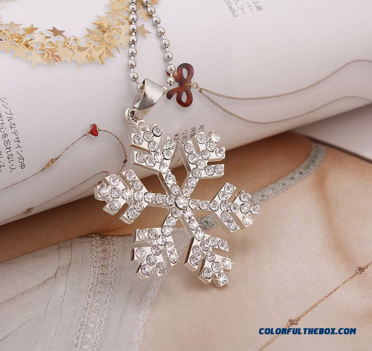 Frozen Frozen Women's Jewelry Frozen Snowflake Necklace Crystal Necklace