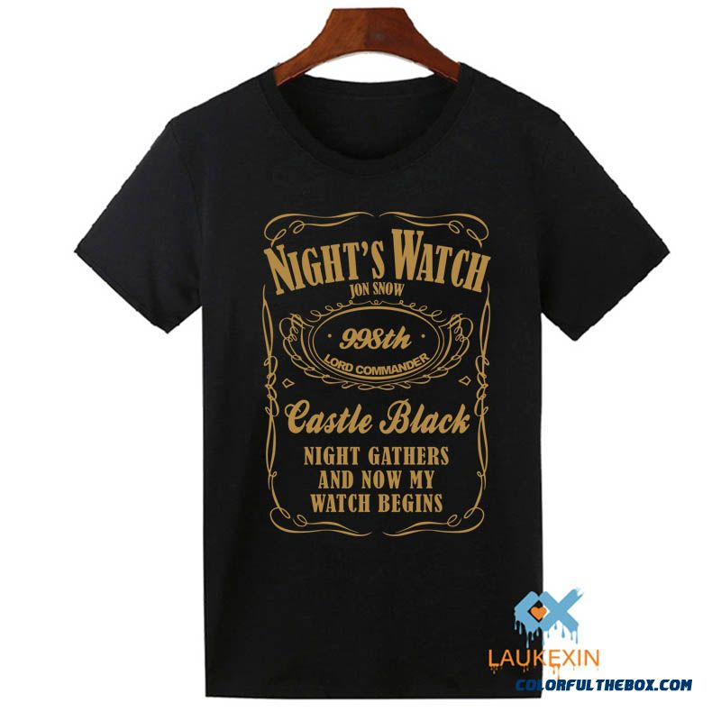 Game Of Thrones T Shirt Mens Nights Watch Jon Snow Tv Show Tops Tee Shirts Homme Camisetas Summer T-shirt Men Tshirt S-xxxl