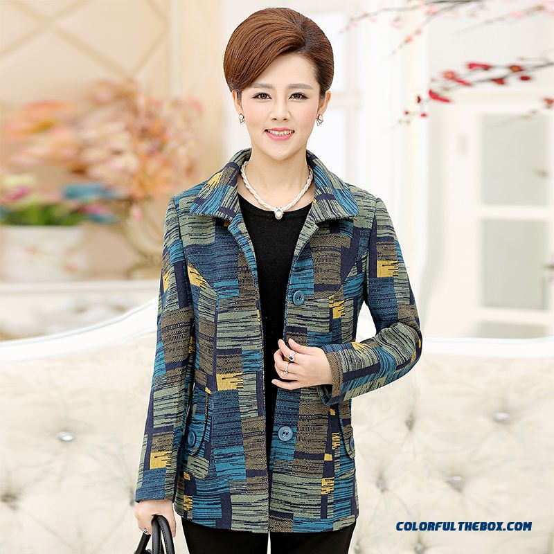 Gentle And Elegant Women Middle-aged Mother Dclothing Plus Size Women Windbreaker Coats