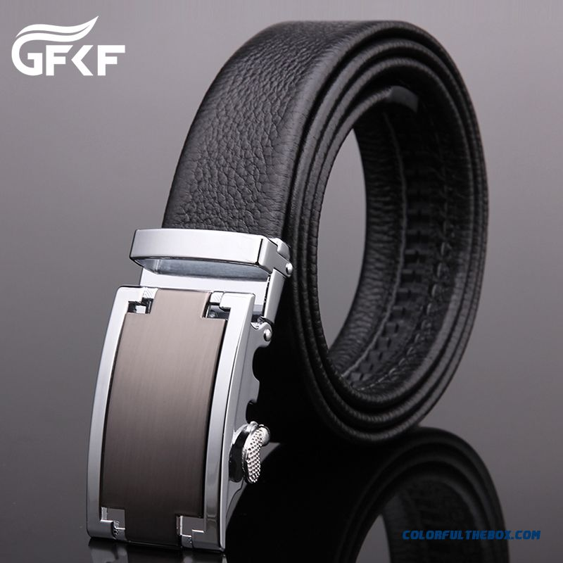 Genuine Leather High-end Business Men First Layer Of Leather Belt Youth Automatic Buckle Belt